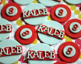 Age Number and Name Fondant Toppers - Perfect for Cupcakes, Cookies and Other Edibles