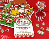 DIY PRINTABLE Invitation Card - Christmas Sweet Shoppe Birthday Party Invitation - PS001CA1a1