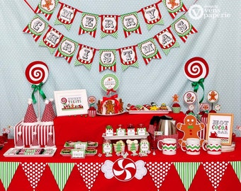 Christmas Sweet Shoppe Holiday Party - DIY PRINTABLE Decoration - Instant Download - design by venspaperie - HS001CA1