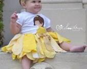 Fabric Tutu, belle tutu, Shabby Chic Tutu, beauty beast belle Halloween Costume, Photo Prop, Toddler Infant Tutu, yellow gold Birthday tutu