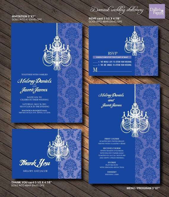 Blue White And Silver Wedding Invitations as luxury invitation example
