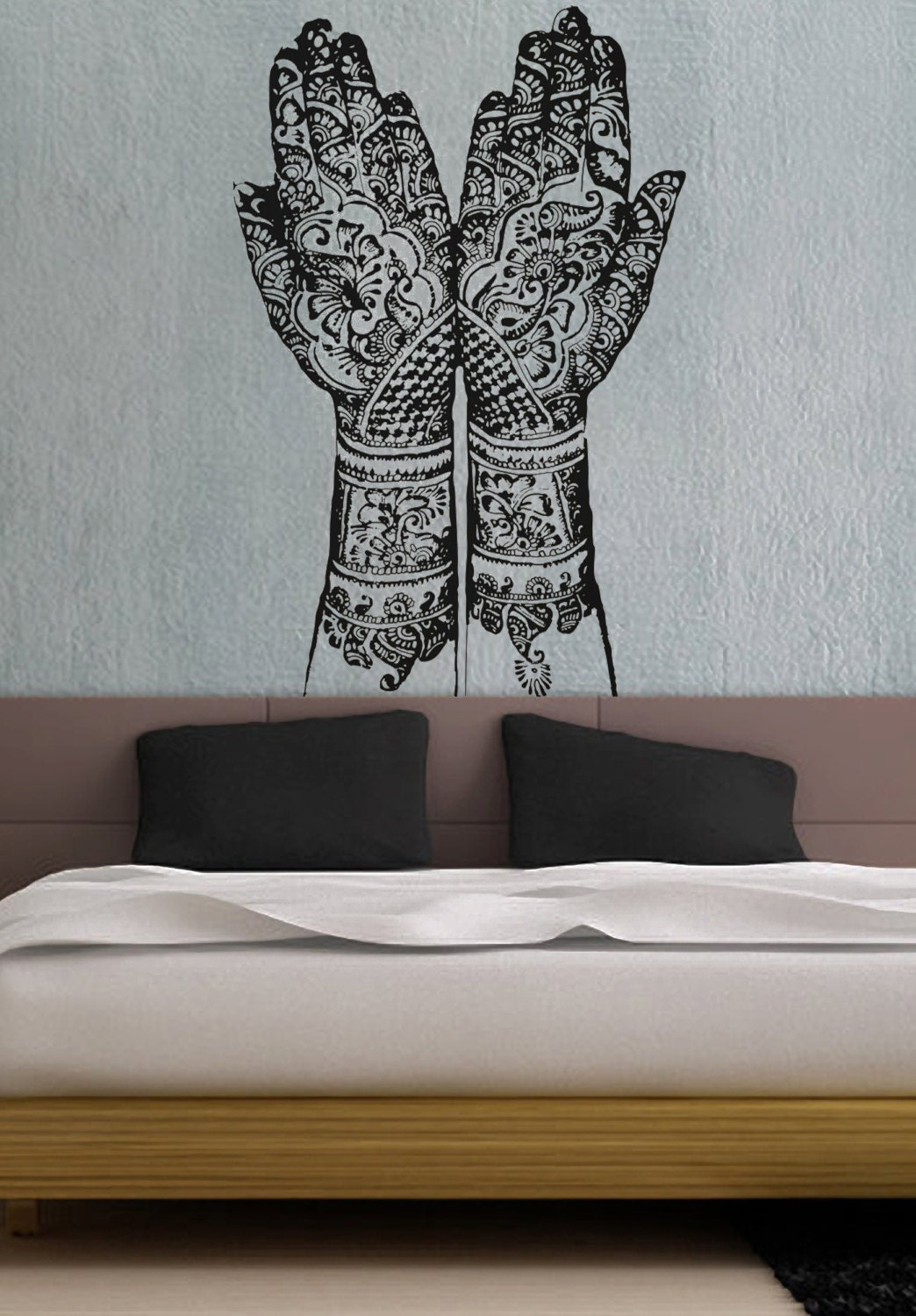 Mehndi Wall Decoration : Henna hands uber decals wall decal vinyl decor art by