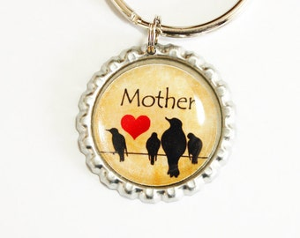 Mother key chain, keychain, Gift for Mom, key ring, key chain, keyring, Mom, Mother, Gift for Mom, Mothers Day (2459)