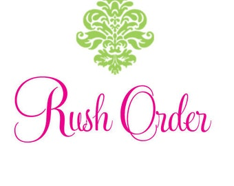 US RUSH order upgrade. Includes 1-3 day priority shipping