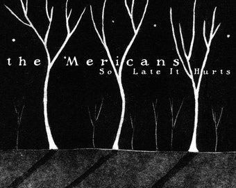 the 'Mericans 'So Late It Hurts' Vinyl LP Record Album with Jennifer Daltry Cover Artwork Providence Indie Roots Rock
