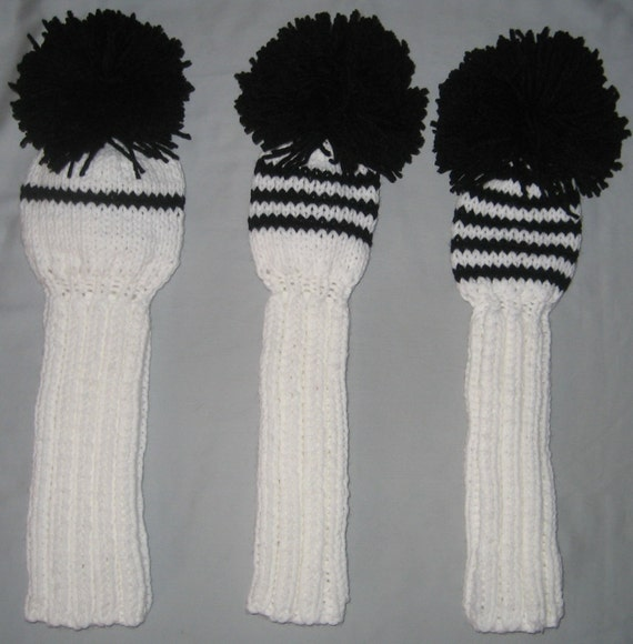 Golf Club Head Covers Hand Knit