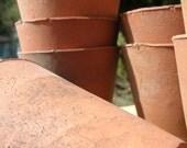 Terracotta plant pot English-made, vintage clay long tom pot