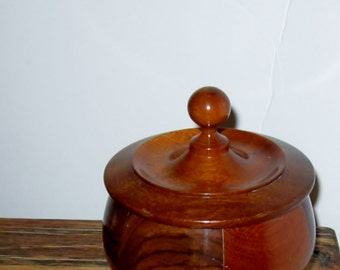Myrtlewood Box with Lid Rare Wood Mid Century Vintage Retro Pacific Northwest
