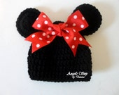 Crochet Minnie Mouse Hat