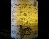 Ave Maria (Bach/Gounod) sheet music Candle holder/ luminary with mango leaf paper