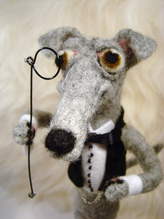 Needle Felted Greyhound-Whippet-Italian Greyhound-Galgo, Handmade Greyhounds, Pet lovers, Wedding, Bridal, Groomsman, Groom Gift