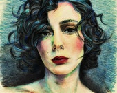 Realistic color illustration, Custom color pencil Portrait, Drawing from your Photo, Commissioned Art, Fantasy illustration
