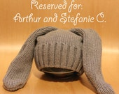 RESERVED for Arthur and Stefanie- Upcycled Bunny Ears Hat
