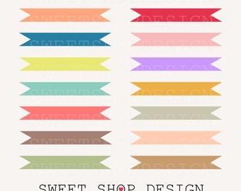 Banner Clip Art, Ribbon Clip Art, Border Clip Art, Digital Clip Art, 32 FLAGS, Instant Download
