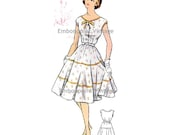Plus Size (or any size) Vintage 1950s Dress Pattern - PDF - Pattern No 70 Lynn