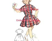 Plus Size (or any size) Vintage 1950s Dress Pattern - PDF - Pattern No 136 Norma