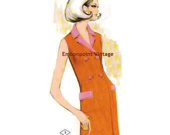 Plus Size (or any size) Vintage 1969 Womens Suit Pattern - PDF - Pattern No 3 Tamara