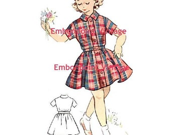 Plus Size (or any size) Vintage 1950s Dress Pattern - PDF - Pattern No 136 Norma
