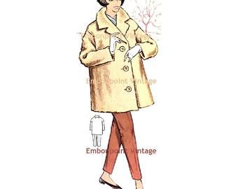 Plus Size (or any size) Vintage 1950s Swing Coat Pattern - PDF - Pattern No 89 Frances