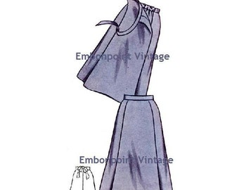 Plus Size (or any size) Vintage 1950s Maternity Skirt Pattern - PDF - Pattern No 72 Ruth Skirt