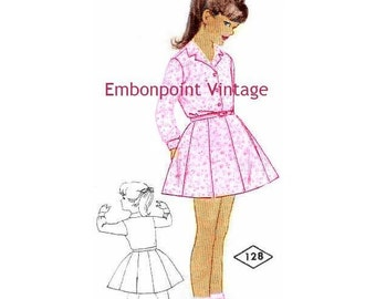 Plus Size (or any size) Vintage 1969 Dress Pattern - PDF - Pattern No 128 Eleanor