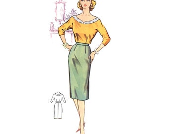 Plus Size (or any size) Vintage 1950s Skirt Pattern - PDF - Pattern No 46b: Gail Skirt