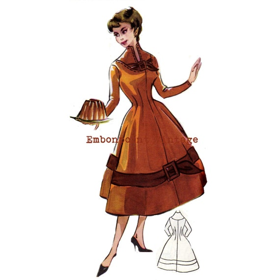 Vintage Sewing Pattern 1956 Dress PDF Plus Size (or any size)  - Pattern No 24 Diann