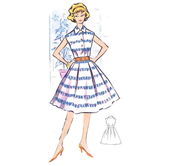 Plus Size (or any size) Vintage 1950s Cocktail Dress Pattern - PDF - Pattern No 16: Carol