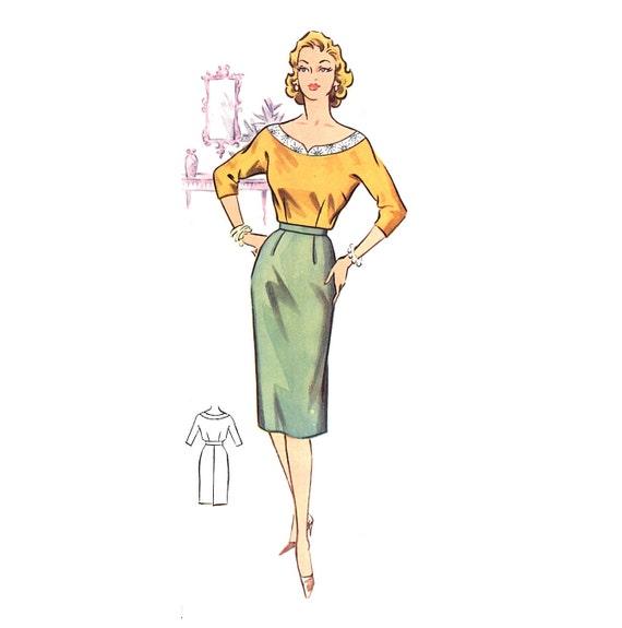 Plus Size (or any size) Vintage 1950s Skirt Pattern - PDF - Pattern No 46b: Gail Skirt