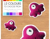 "Mini Felt Monster Plush Toy by BABUA - ""Maya"" - 12 Colors"