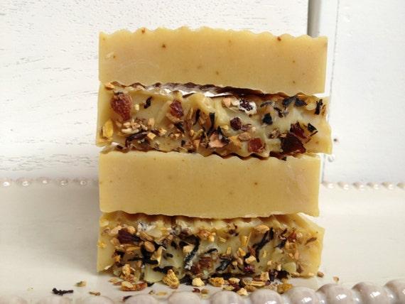 Tangerine Ginger Organic Coconut Milk Herbal Handmade Soap - Handmade Soap - Vegan