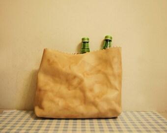 Sale: Leather Paper Bag