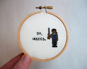 Little cross stitch -- inspired cross stitch, finished cross stitch, variety of phrases made to order
