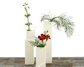 Cityscape Bud Vases- Set of 3 Individual Vases B