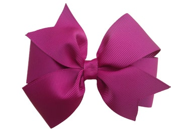 Burgundy hair bow- maroon hair bow, 4 inch hair bow, pinwheel bow, girls hair bows, girls bows, red hair bows, toddler bows, hair clips
