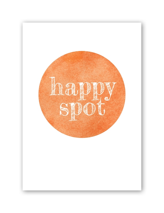 Happy Spot Watercolour - Medium - Circle Happiness Art Print