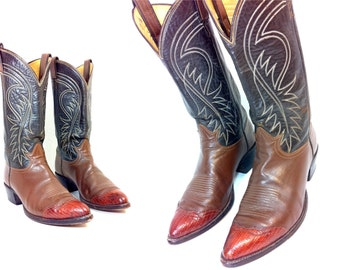 Leather Cowboy Boots 9 - Tony Lama Western Boots 9
