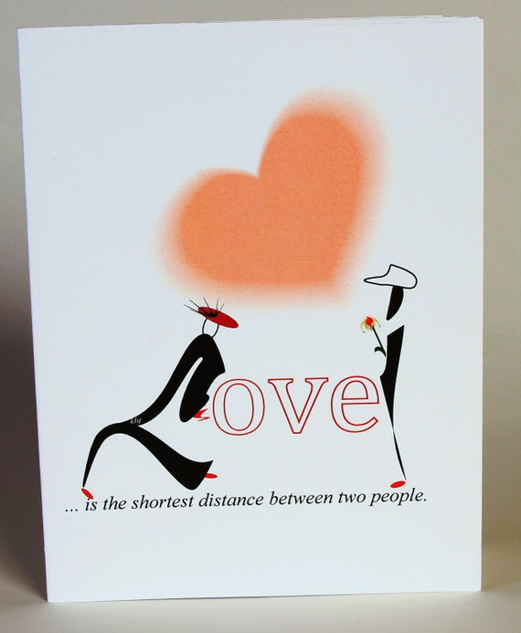 Valentine Quotes For Long Distance Lovers: Items Similar To Romantic Birthday Valentines Card, Love
