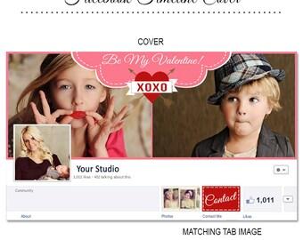 Valentine's Day Facebook Timeline Cover - FB145 - Instant Download