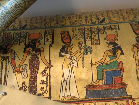 Vintage Wrapping Paper Egyptian Hieroglyphics