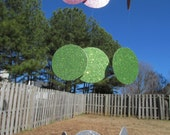 Garland - Pastel Colors Pink Light green and silver, Birthdays, Weddings, Showers, Easter Parties 7 Feet