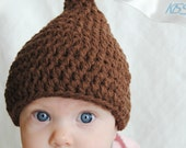 Chocolate Kiss Crochet Baby Hat- Valentine's Day - MadeleineAndCo