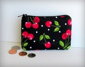 Rockabilly Cherries - Money Pouch or Coin Purse - FABULOUS