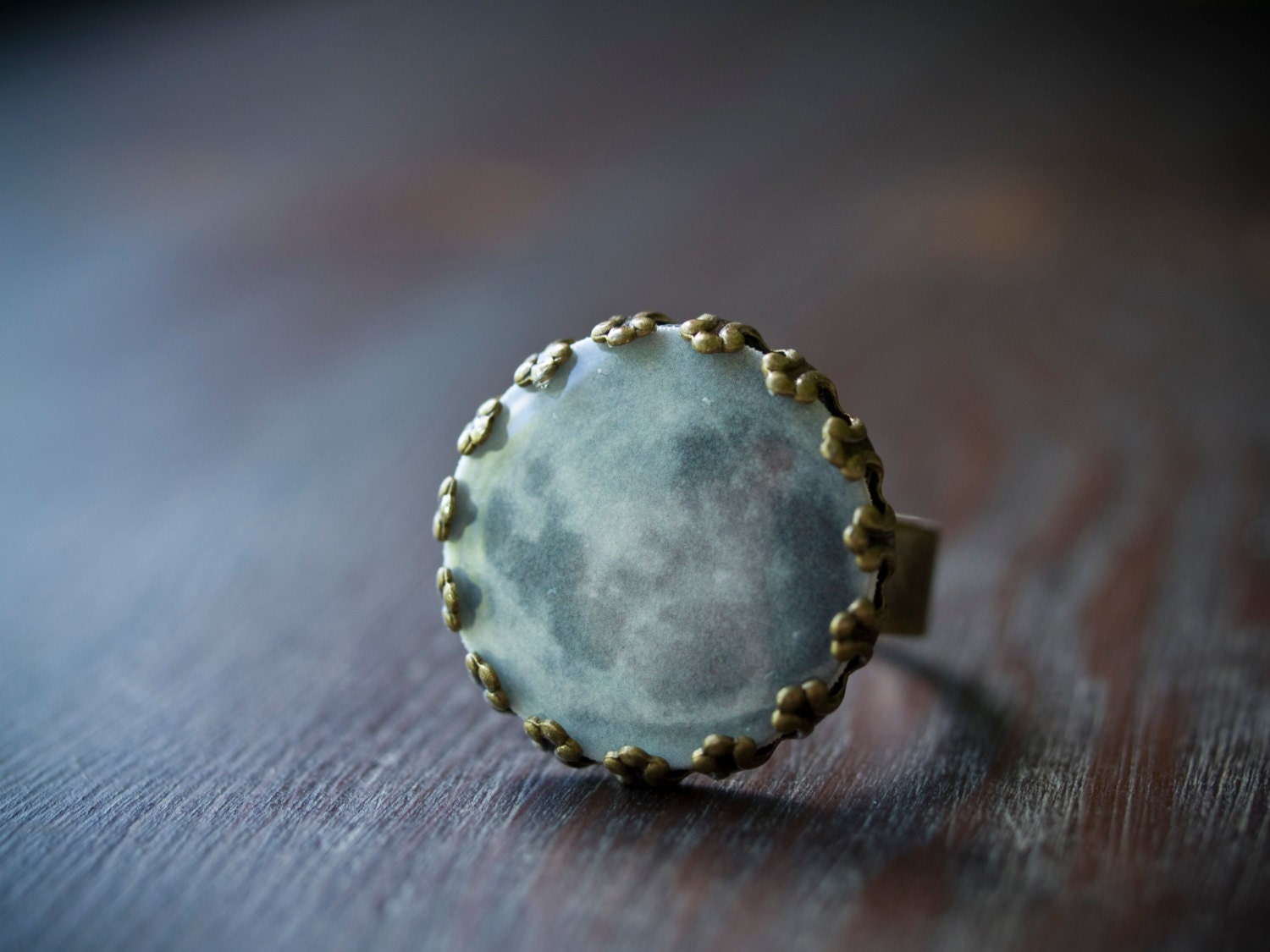 moon ring space jewelry moon jewelry by saltystardesigns
