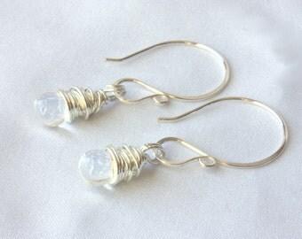 SALE - Wire Wrapped Drop Earrings