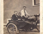 Vintage Motorcycle Photography Side Car