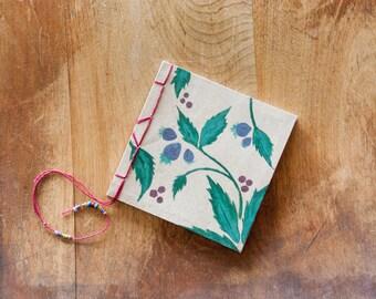 Mini Handmade Journal: Hand Bound Journal/ Stab Binding OOAK