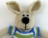 Easter Bunny Toy - Knit Boy Toy Rabbit - Plush Doll - Stuff Animal - Plush Bunny -Stuffed Bunny-  Knit Toy - Bunny Rabbit - Kids Toy Hunter