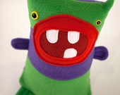 Robert III - Awesome Green and Purple Plush Monster