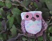 Miniature owl toy accessory - Tulip - for Kaye Wiggs BJD MSD doll